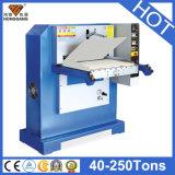Machine en cuir hydraulique plate de Hg-E120t