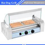 5 Warmere Machine van het Kooktoestel van de Grill van de Worst van de Hotdog van de rol de Commerciële Elektrische