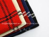Acrylform-Winter-warmes Rot u. Marine-Zickzack gesponnener Schal mit Franse