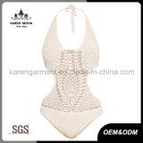 Crochet di un pezzo del Halter delle donne più lo Swimwear di formato