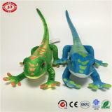 Jouet bleu et vert d'animal sauvage de peluche de la CE de qualité de lézard