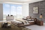 أثاث لازم حديثة بيتيّة خشبيّة غرفة نوم مجموعة جلد سرير ([هك285])
