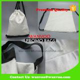 方法Ecoのブランク綿のキャンバスのドローストリング旅行バックパック袋