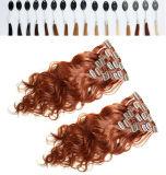Hair Extensionsの8A 140gブラジルのVirgin Human Clip