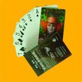 Tarjetas que juegan de encargo hechas del plástico o del papel