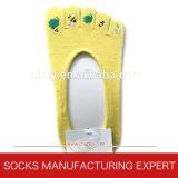 Barco del algodón calcetines del dedo del pie de la mujer (UBUY-059)
