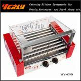Form-haltbare Wurst-Maschine, 9 Rollen-elektrisches Hotdog-Gitter mit Glasdeckel, CER genehmigt (WY-009)