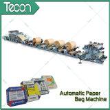 Maquinaria de papel pegada de alta velocidad del saco