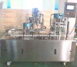 Máquina automática de enchimento de pó de garrafa com linha de encapsulamento