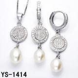 Imitatie Juwelen 925 Echte Zilveren Reeksen van de Juwelen van de Parel