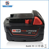 Батарея Li-иона замены M18 Milwaukee 18V 5000mAh