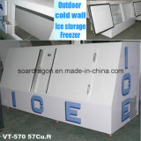 Congelador frio do armazenamento de gelo da parede para a terra arrendada do gelo 8lbs