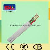 3 corazones del cable eléctrico 2 del cable plano de la base y cable plano de la tierra