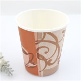 Kundenspezifisches Logo Printed Disposable Single Wall Coffee Paper Cup mit Lids