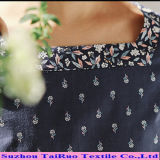 Tela Chiffon do cetim do Spandex de Georgette do poliéster com impresso para a tela do vestido
