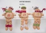 Pares Legged del pan de jengibre del botón, decoración de la Asst-Navidad 2
