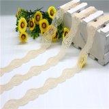 Cordón del ganchillo de la cinta del cordón del telar jacquar para la ropa interior