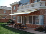 20 piedi di Retractable Awning con Motor e Override System Solution Dyed Acrylic Fabric