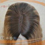 Clip posterior polivinílico del pelo humano del frente del cordón en Toupee