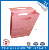 Rosafarbene Farbe gedruckter Packpapier-Geschenk-verpackenbeutel mit Magneten