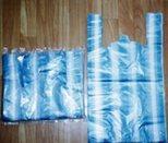Sacs à provisions rayés en plastique pour le supermarché