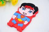 スーパーマンの鉄の人の盾のチームリーダーのシリコーンの携帯電話の箱(XSY- 001)