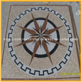 自然な石造りのモザイク/大理石のモザイク・タイル/大理石モザイク円形浮彫りパターン