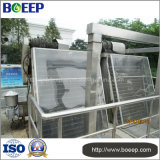 Harrow Fine Screen em esgoto em fibra de couro remove eficazmente