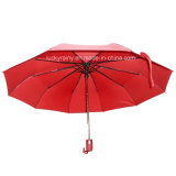 Drei Folding Auto Open Auto Close Umbrella mit Water Magic Pongee