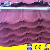 Azulejos de material para techos revestidos del metal de la arena del material de construcción