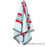 高品質の顧客用ジャカード浜毛布のビーチタオル