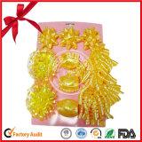 크리스마스 Curlying 리본 활 또는 별 활 및 꽃