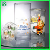 Zylinder Packaging Clear Plastic Box mit Round Shape
