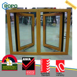 Großhandels-UPVC doppeltes Öffnungs-Flügelfenster-Fenster