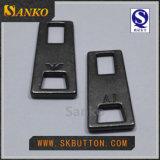 Resbalador de plata anti de la cremallera del metal de la alta calidad