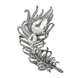 VAGULA 2016 Fashion Broche en plume plaquée or Broches en cristal strass en cristal VAG63012