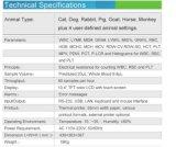 Анализатор гематологии медицинского оборудования Multi-Parameter высокий квалифицированный животный