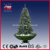 PVC artificial Quente-Selling Snowing Christmas Tree com diodo emissor de luz Lights