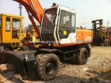 Máquina escavadora usada original da roda de Japão Hitachi Ex160wd-1