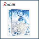Bolsa de papel laminada brillante del regalo de las compras de Bell de la Navidad del papel de arte