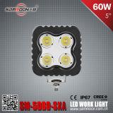 IP67 5 인치 60W 정연한 크리 사람 LED 차 일 모는 빛