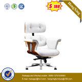 Твердый стул офиса босса деревянных ног кожаный (NS-064A)