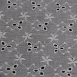 Tessuto bianco del merletto del ricamo del cotone per i vestiti