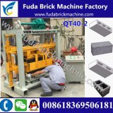 Petite machine de fabrication de briques manuelle Qt40-2 / Paver Brick Making Machine Price