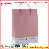 Sac de main de papier de luxe fait sur commande avec le sac de papier de traitement en plastique des traitements de pp/pp