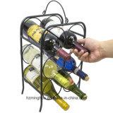 6本のびんの金属のワインラック卓上のための支えがないワインの棚