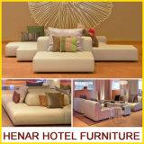 Mobilia stabilita del sofà di legno contemporaneo per l'ingresso cinque stelle dell'hotel