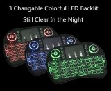 Tastatur der Farben-I8 mini drahtlose Tastatur des Radioapparat-3 Backlit 2.4G