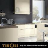新しい台所が付いているKtichenの白いキャビネットはTivo-D031hを設計する