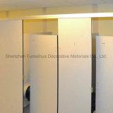 Compartimento do toalete do quarto de mudança da ginástica de Fmh com o painel de assento do banco HPL
